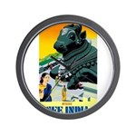 India Travel Advertising Print Wall Clock