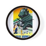 India Travel Advertising Print Wall Clock