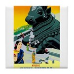 India Travel Advertising Print Tile Coaster