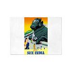 India Travel Advertising Print 5'x7'Area Rug