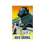 India Travel Advertising Print Area Rug