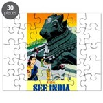 India Travel Advertising Print Puzzle