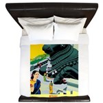 India Travel Advertising Print King Duvet
