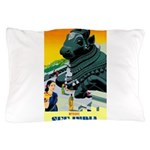 India Travel Advertising Print Pillow Case