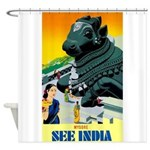 India Travel Advertising Print Shower Curtain