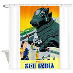 India Travel Advertising Print Shower Curtain