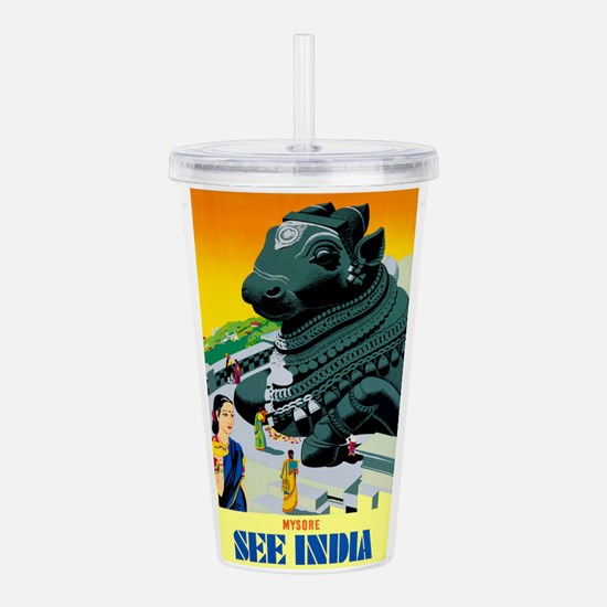 India Travel Advertising Print Acrylic Double-wall