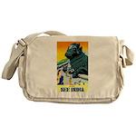 India Travel Advertising Print Messenger Bag