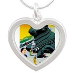 India Travel Advertising Print Necklaces