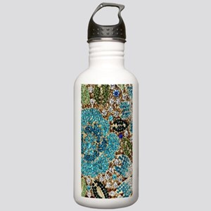 bohemian floral turquo Stainless Water Bottle 1.0L
