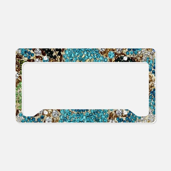 bohemian floral turquoise rhi License Plate Holder