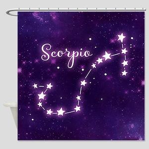 Scorpio Zodiac Constellation Shower Curtain