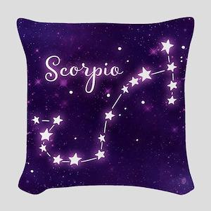 Scorpio Zodiac Constellation Woven Throw Pillow