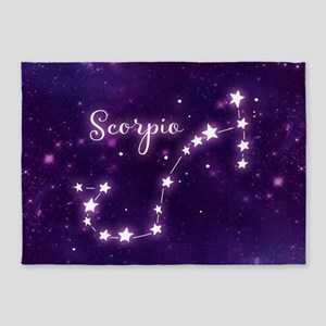Scorpio Zodiac Constellation 5'x7'Area Rug