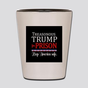 Treasonous Trump Prison Shot Glass