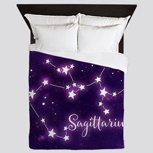Sagittarius Zodiac Constellation Queen Duvet