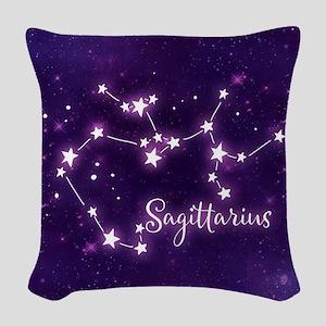 Sagittarius Zodiac Constellati Woven Throw Pillow
