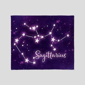 Sagittarius Zodiac Constellation Throw Blanket