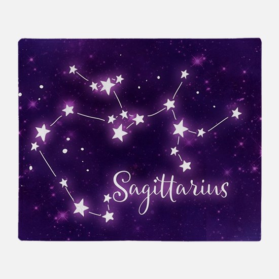 Sagittarius Zodiac Constellation Throw Blanket
