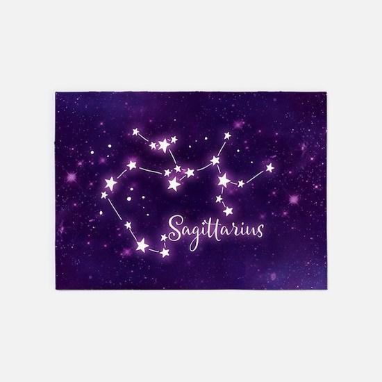 Sagittarius Zodiac Constellation 5'x7'Area Rug