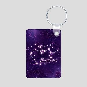Sagittarius Zodiac Constel Aluminum Photo Keychain