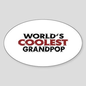 World's Coolest Grandpop Oval Sticker