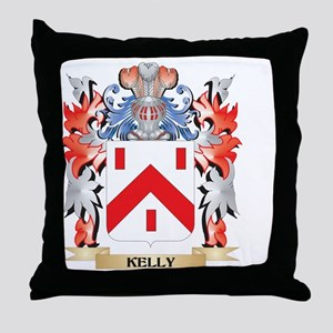 Kelly- Coat of Arms - Family Crest Throw Pillow