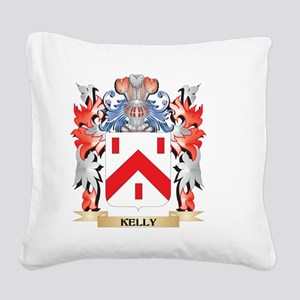 Kelly- Coat of Arms - Family Square Canvas Pillow
