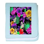 Colorful Flower Design Print baby blanket