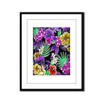 Colorful Flower Design Print Framed Panel Print