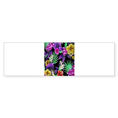 Colorful Flower Design Print Bumper Bumper Sticker