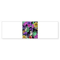Colorful Flower Design Print Bumper Bumper Sticker