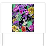 Colorful Flower Design Print Yard Sign