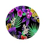 Colorful Flower Design Print Button