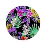 Colorful Flower Design Print Button