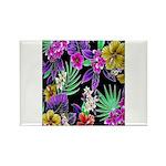 Colorful Flower Design Print Magnets