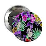 "Colorful Flower Design Print 2.25"" Button (100 pac"