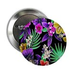 """Colorful Flower Design Print 2.25"""" Button (10 pack"""