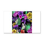 Colorful Flower Design Print Rectangle Car Magnet