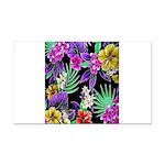 Colorful Flower Design Print Rectangle Car Magnet