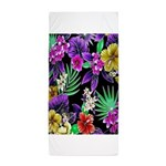 Colorful Flower Design Print Beach Towel