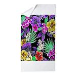 Colorful Flower Design Print Beach Towel