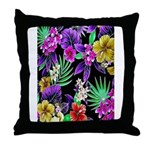 Colorful Flower Design Print Throw Pillow