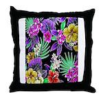 Colorful Flower Design Print Throw Pillow