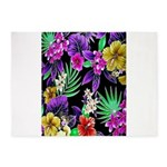 Colorful Flower Design Print 5'x7'Area Rug