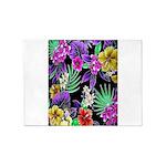 Colorful Flower Design Print 5'x7'Area Rug