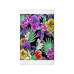 Colorful Flower Design Print Area Rug
