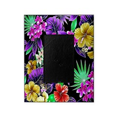 Colorful Flower Design Print Picture Frame