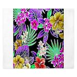 Colorful Flower Design Print King Duvet