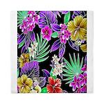 Colorful Flower Design Print Queen Duvet